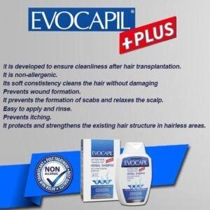 Evocapil after hair transplant shampoo