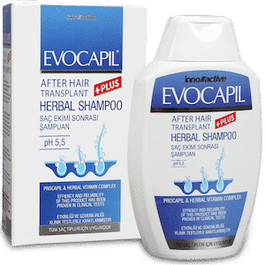 Evocapil after hair transplant shampoo
