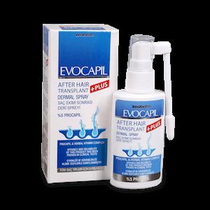 Evocapil after hair transplant spray